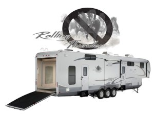 Open Range RV dicontinues the Rolling Thunder Toy Hauler 5th wheel camper