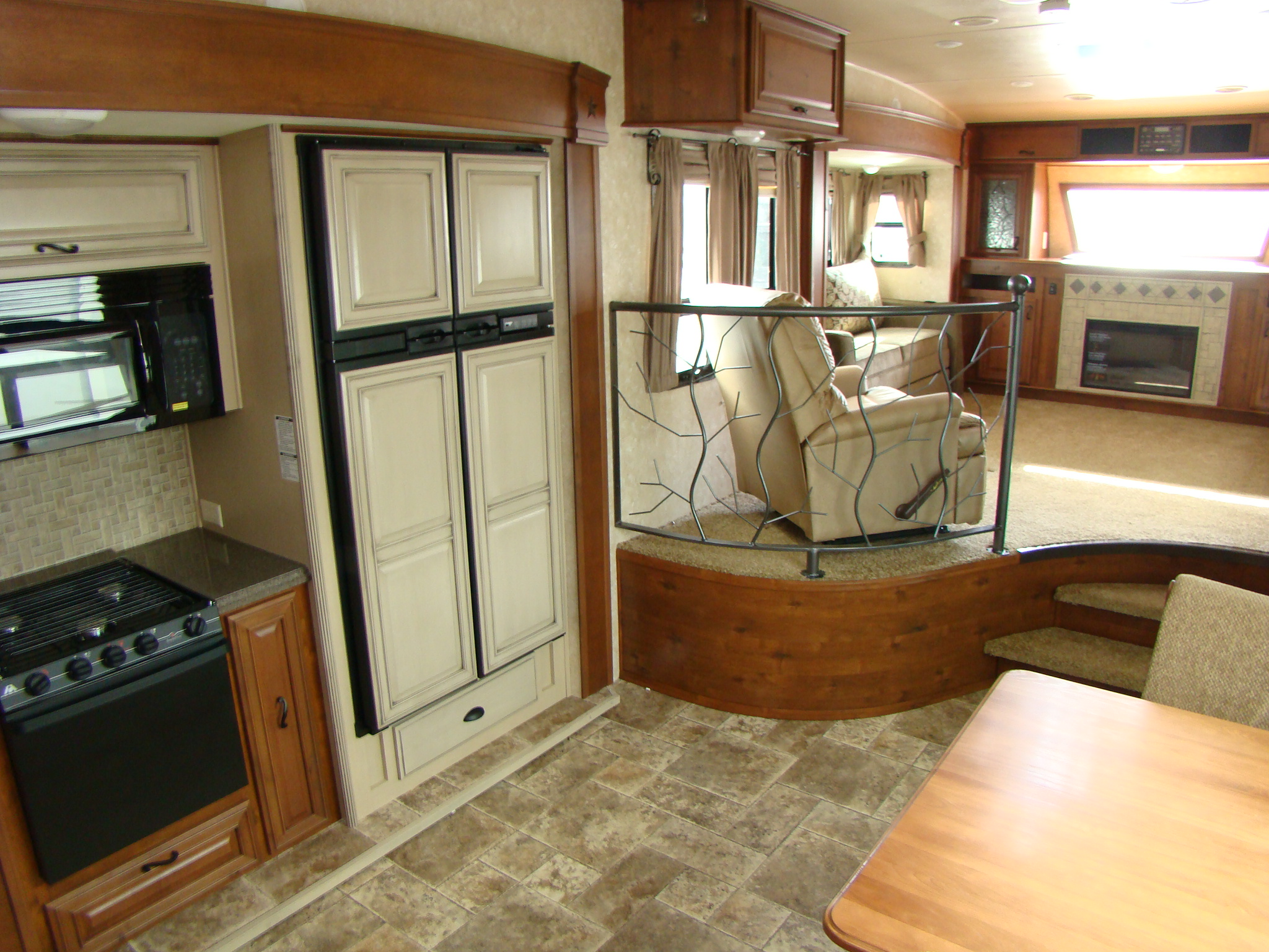 642 best rv ideas images on pinterest travel trailers camper. Lovely Fifth Wheel Campers with Bunkhouse and Outdoor Kitchen