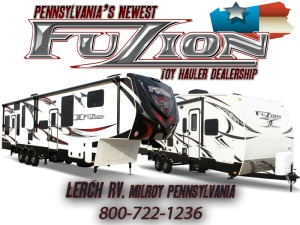 Fuzion Toy Haulers, Keystone RV Fuzion Pennsylvania RV Dealer, Lerch RV