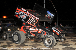 Blane Heimbach/Creasy Heimbach Racing/LerchRV sponsor for Port Royal Speedway winning Sprint car.