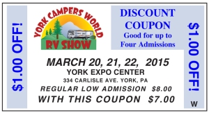 2015 York RV Show Coupon