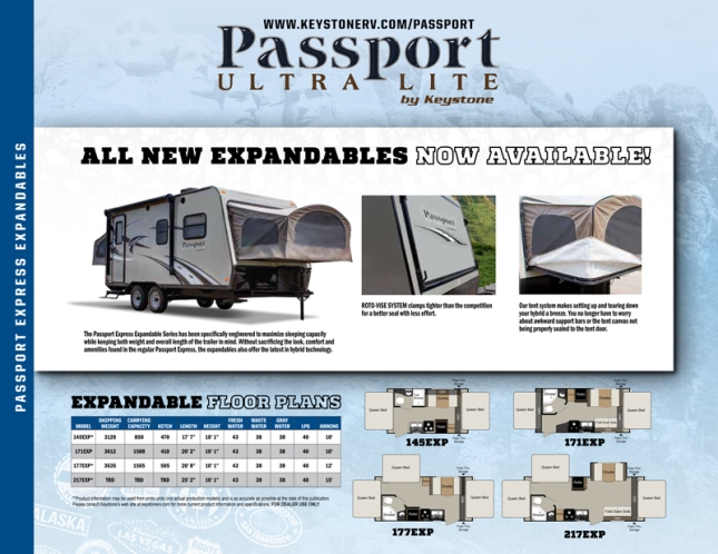 Keystone Passport ultra lite expandable travel trailer RV camper