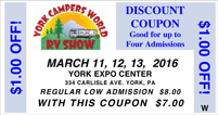 2016 York RV Show coupon